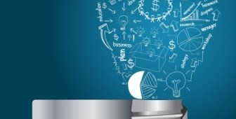 Creative Light Bulb With Drawing Business Strategy Plan
